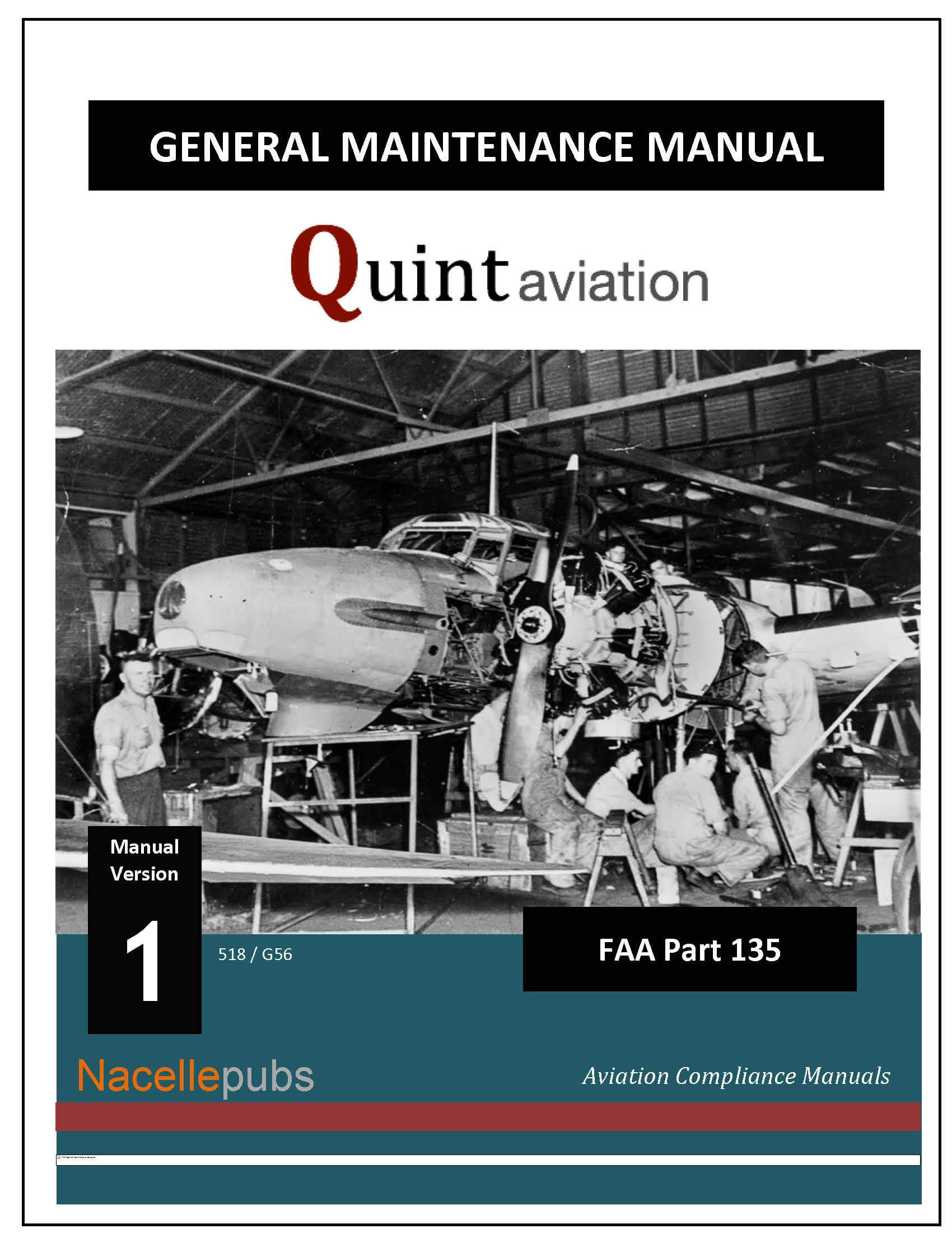 FAA Part 135 General Maintenance Manual (GMM)