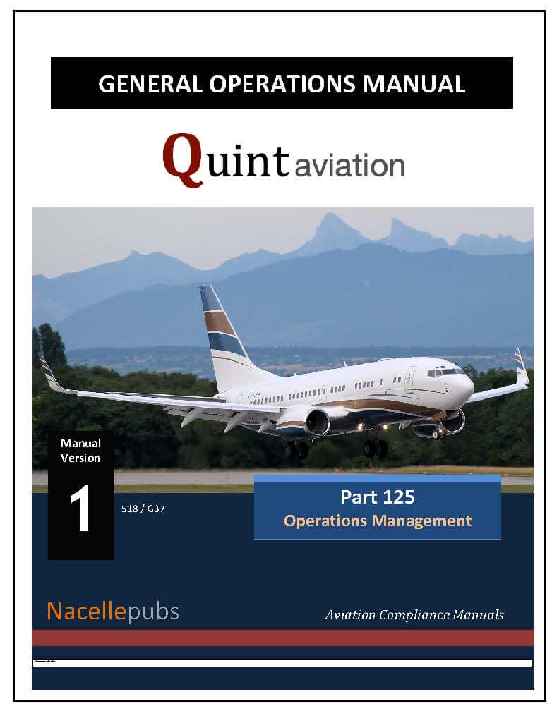 FAA Part 125 General Operations Manual (GOM)