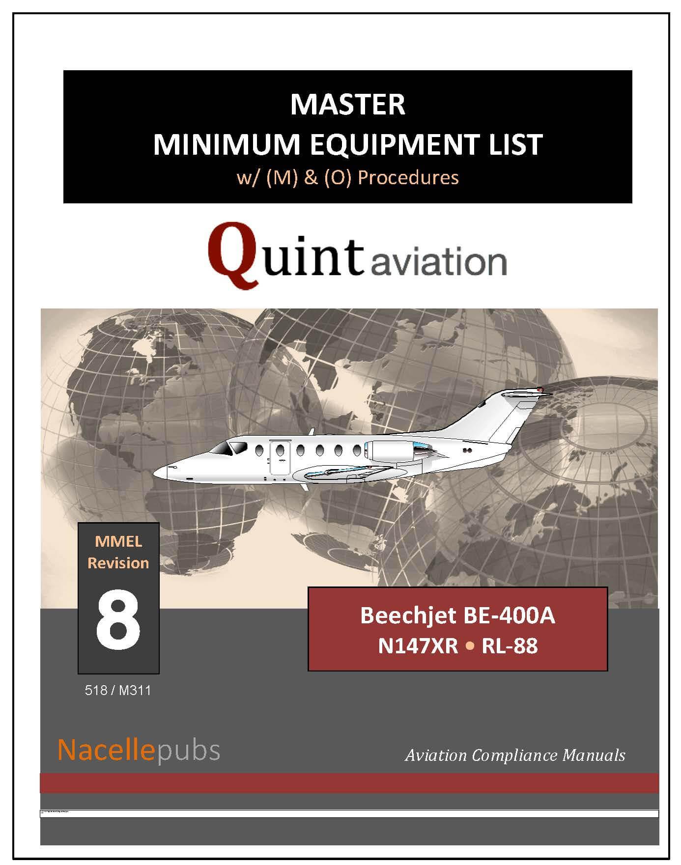 FAA Master Minimum Equipment List - MMEL, MMELs