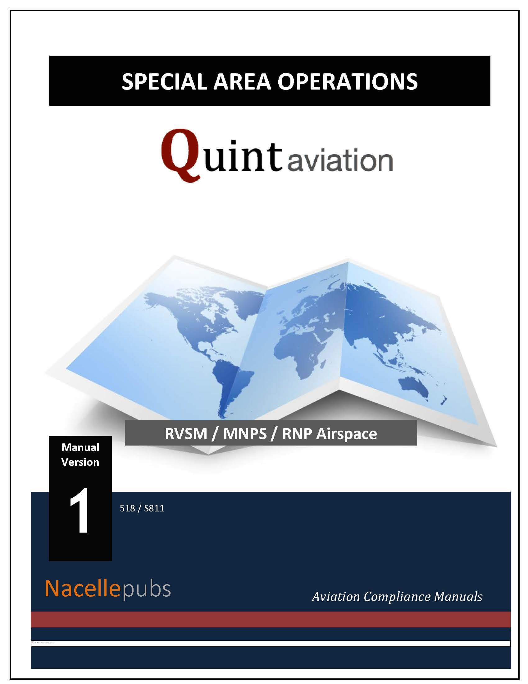 FAA Special Area Operations Manual (SAO) - RVSM, MNPS, WATRS, RNP