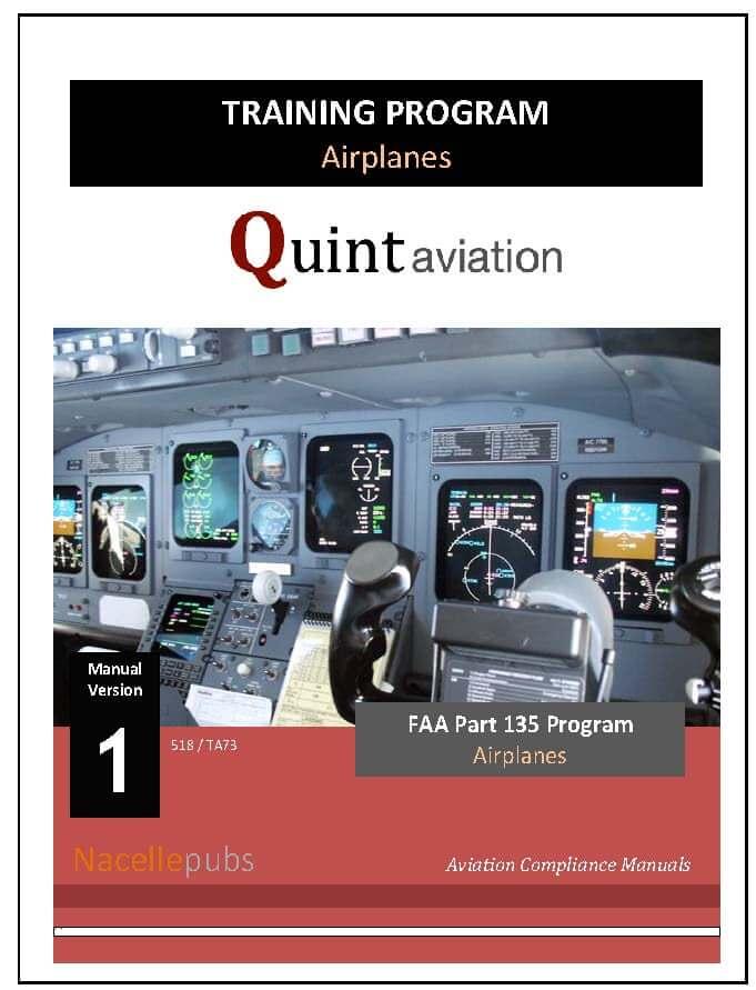 FAA Part 135 Training Program (Airplanes)
