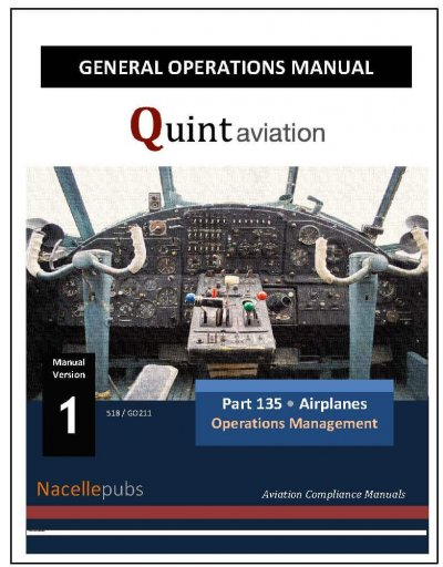 Part 135 General Operations Manual for Part 135 Airplanes